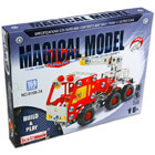 Fém építőjáték - darus tűzoltóautó, 169 darabos